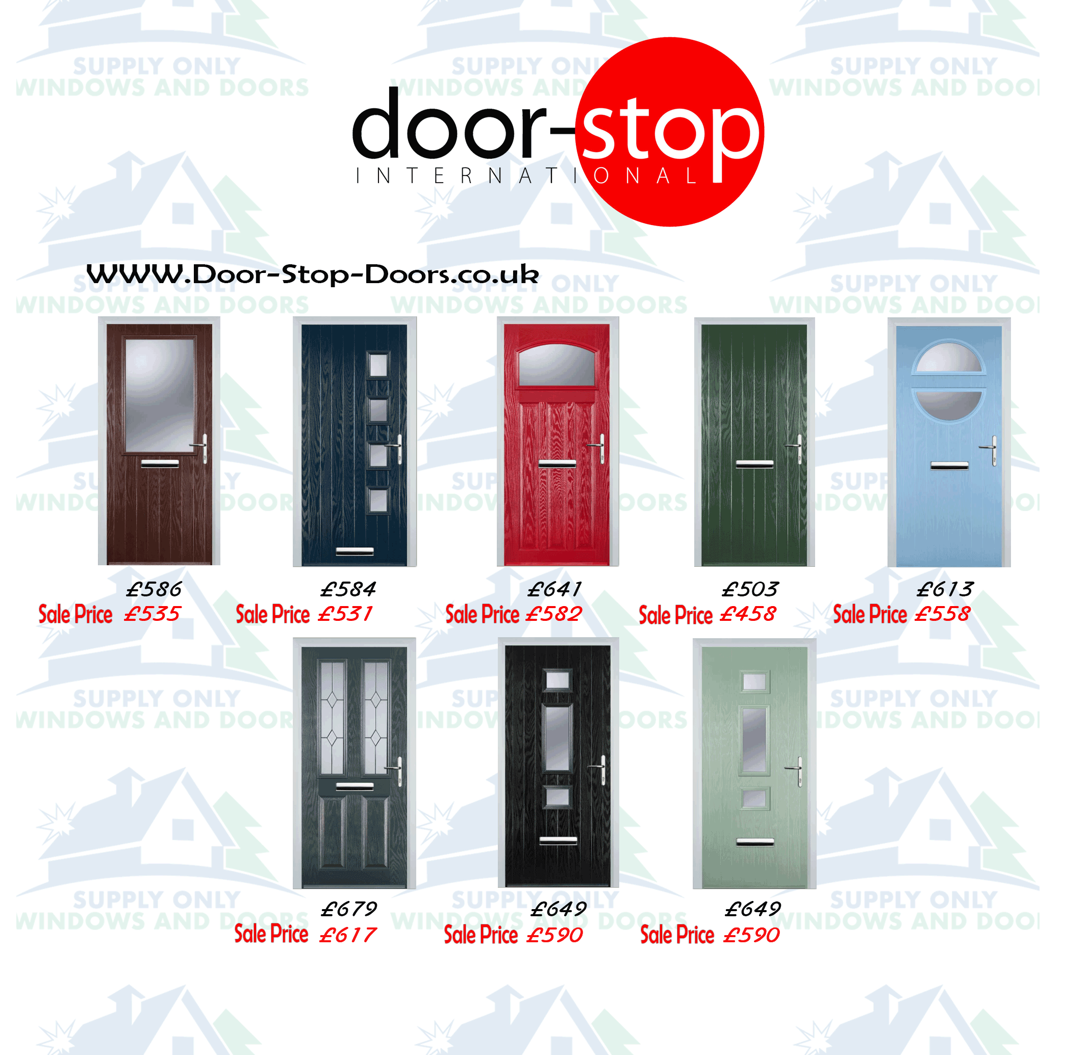 Supply Only Door Stop Doors