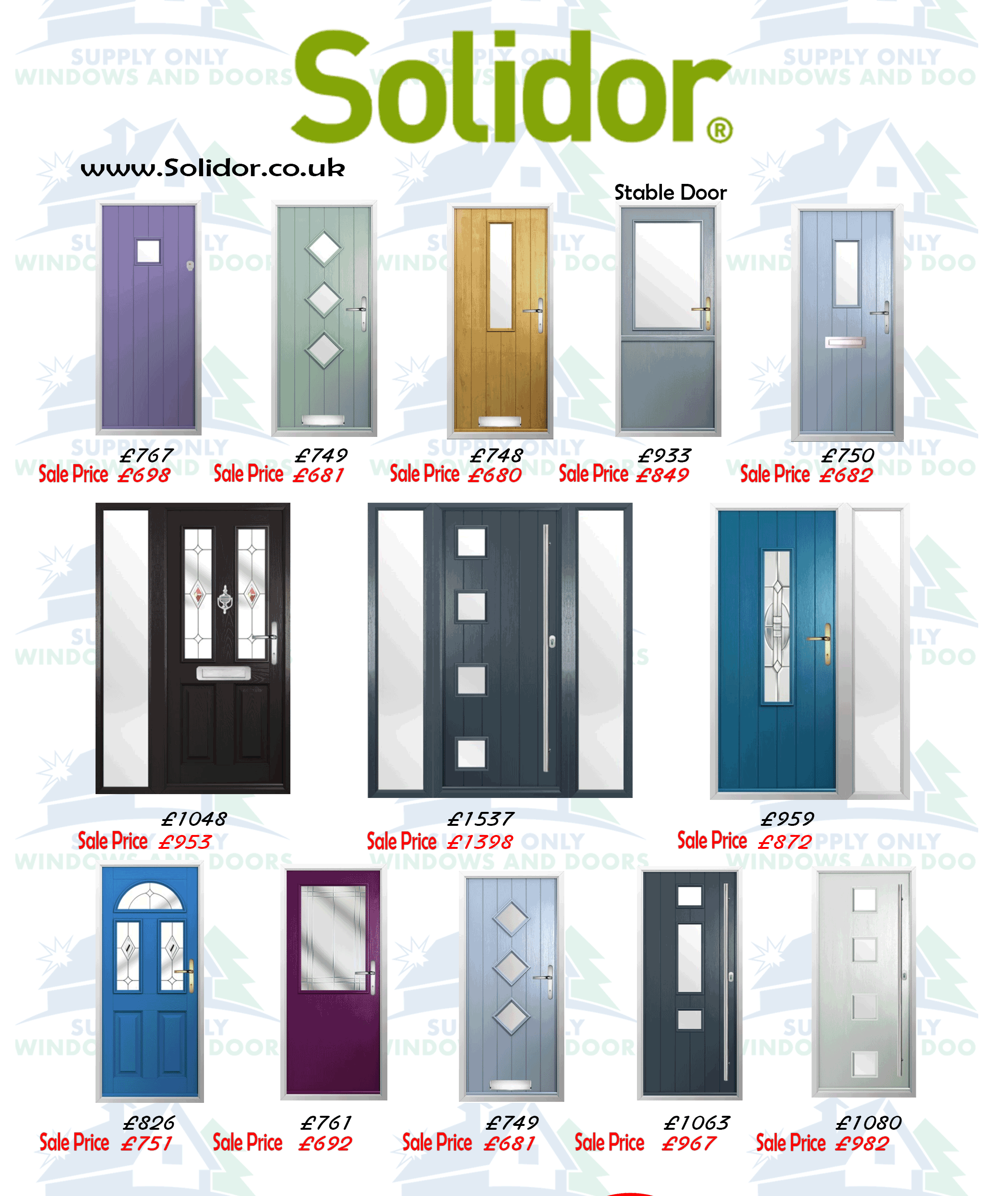 Supply Only Solidor Doors