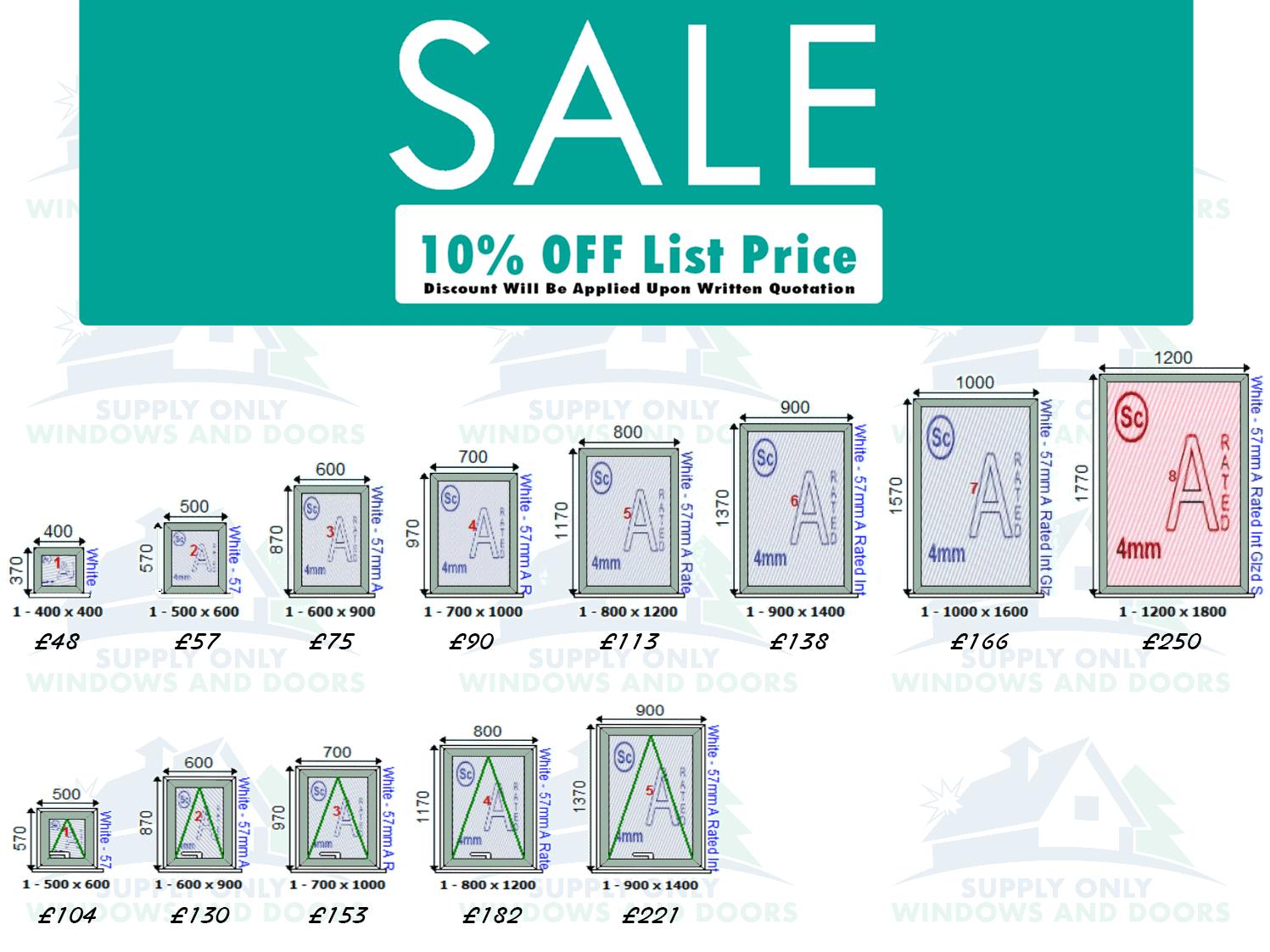 UPVC Window Prices