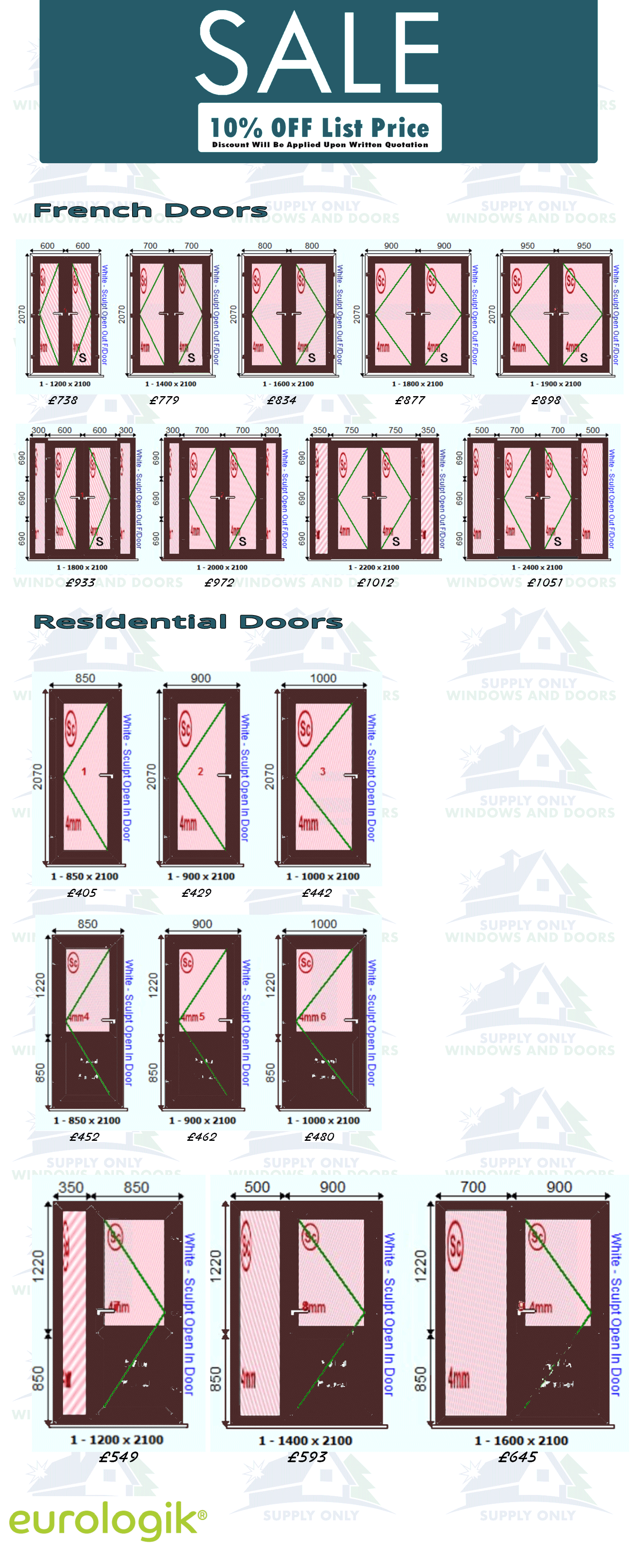 Rosewood UPVC Door Prices