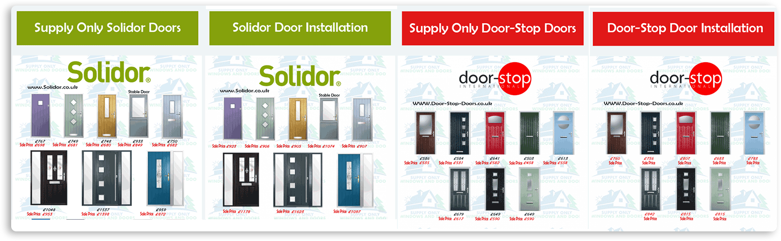 Supply Only Composite Doors Oxford